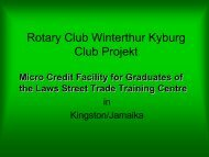 Rotary Club Winterthur Kyburg Club Projekt
