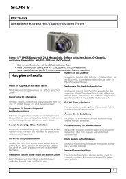 Produkteinformation : DSC-HX50V - Net