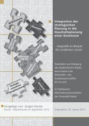 Integration der strategischen Planung in die Haushaltsplanung einer ...