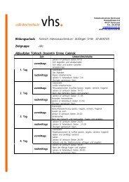 Seminarunterlagen 32-40301D - VHS Dortmund