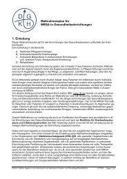 Maßnahmenplan für MRSA in ... - Pflegen-online.de