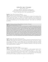 Titles and Abstracts - Department of Mathematics - University of ...