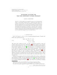 MULTIGRID ANALYSIS FOR THE TIME ... - Emory University