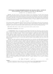 OPTIMALLY SPARSE REPRESENTATIONS OF 3D DATA WITH C2 ...