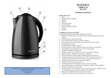 Maxwell MW-1024 Virdulys.pdf - UAB Krinona - prekių instrukcijos ...