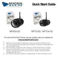 VorTech EcoSmart Quick Start Guide PDF - Drs. Foster and Smith