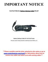 IMPORTANT NOTICE - EcoTech Marine