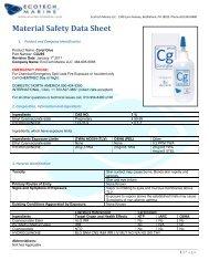 MSDS sheet - EcoTech Marine