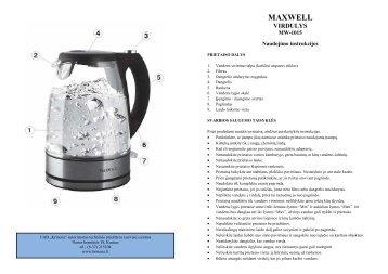 Maxwell MW-1015 Virdulys.pdf - UAB Krinona - prekių instrukcijos ...