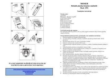 MOSER 1591 Belaide plauku kirpimo masinele.pdf - UAB Krinona ...