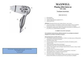 Maxwell MW-2006 Plauku dziovintuvas.pdf - UAB Krinona - prekių ...