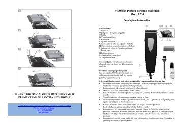 MOSER 1234 Plauku kirpimo masinele.pdf - UAB Krinona - prekių ...