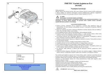 IM-9256 Garinis lygintuvas Eco - UAB Krinona - prekių instrukcijos ...
