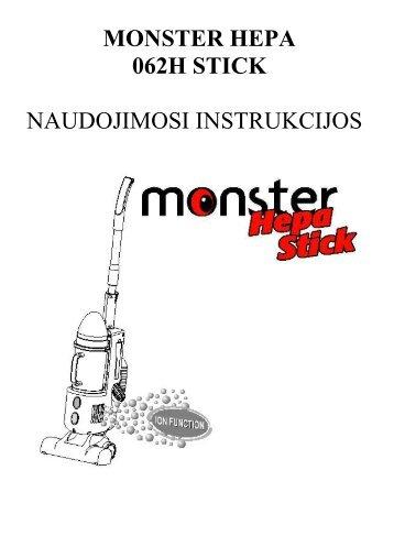 062H Monster Hepa Stick.pdf - UAB Krinona - prekių instrukcijos ...