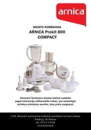 ARNICA Prokit 800 COMPACT - UAB Krinona - prekių instrukcijos ...