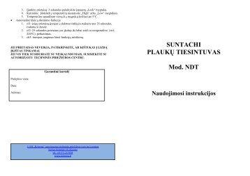 Suntachi Plauku tiesintuvas NDT - UAB Krinona - prekių instrukcijos ...