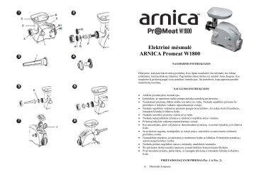 Arnica el. mesmale Promeat W1800.pdf - UAB Krinona - prekių ...