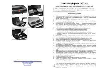 IM-7389 Sumustiniu keptuve.pdf - UAB Krinona - prekių instrukcijos ...