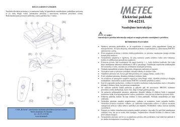 IM-6221L Elektrine paklode.pdf - UAB Krinona - prekių instrukcijos ...