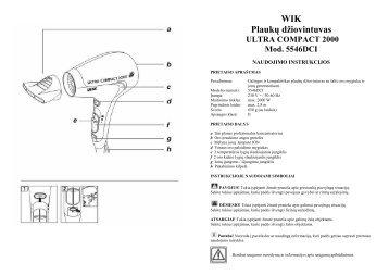 WIK 5546DCI Plauku dziovintuvas.pdf - UAB Krinona - prekių ...