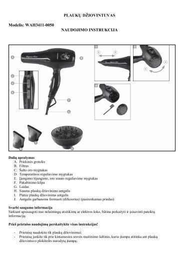 WAH3411-0050 plauku dziovintuvas.pdf - UAB Krinona - prekių ...