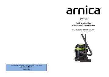 Arnica Tayfun Dulkiu siurblys.pdf - UAB Krinona - prekių instrukcijos ...