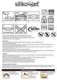 Silikomart .pdf - UAB Krinona - prekių instrukcijos - Krinona