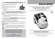 gaia 8000 - UAB Krinona - prekių instrukcijos - Krinona