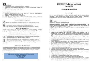 IM-6467L Elektrine antklode.pdf - UAB Krinona - prekių instrukcijos ...
