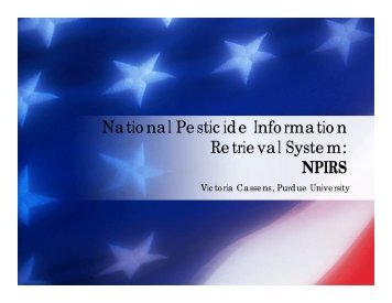 National Pesticide Information Retrieval System - US Environmental ...