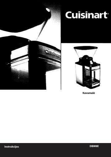 DBM8E Instrukcijos Kavamalė - UAB Krinona - prekių instrukcijos ...