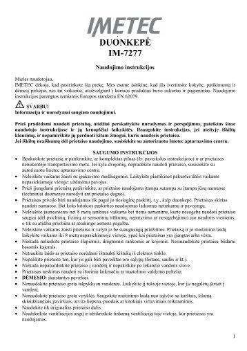 IM-7277 Duonkepe.pdf - UAB Krinona - prekių instrukcijos - Krinona