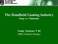 The Handheld Gaming Industry - Center for Digital Strategies