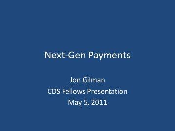Next-Gen Payments - Center for Digital Strategies