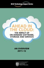 ahead in the cloud - Center for Digital Strategies - Dartmouth College
