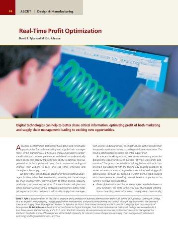 Real-Time Profit Optimization - Center for Digital Strategies ...
