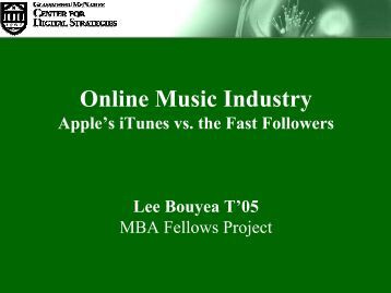 Online Music Industry - Center for Digital Strategies