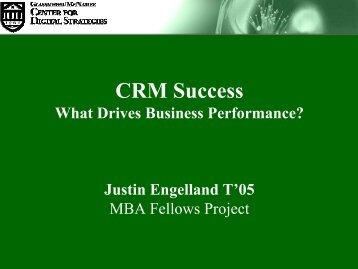 CRM Success - Center for Digital Strategies