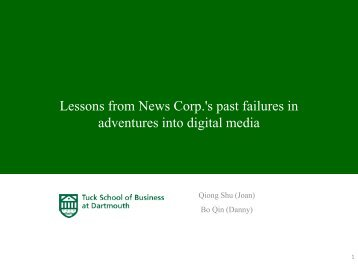 MySpace Failure - Center for Digital Strategies