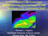 Presentation: Science Support for Ecosystem-Based Fisheries ...