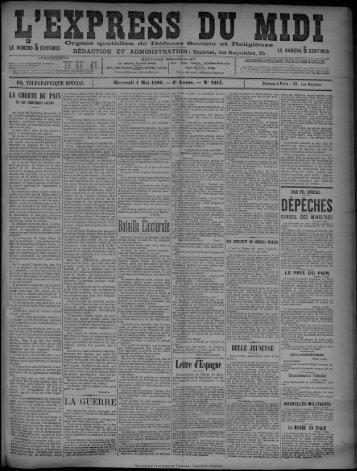 Mercredi 4 Mai 1898. - Bibliothèque de Toulouse