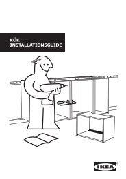 Till installationsguiden för kök - Ikea