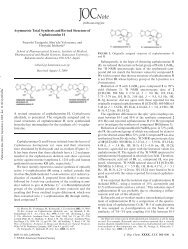 Asymmetric Total Synthesis and Revised Structure of ...