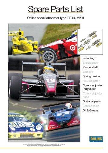 Spare Parts List - Motorsports Spares International