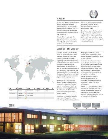 Goodridge Catalogue - Motorsports Spares International