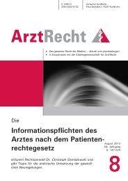 ArztRecht 2013