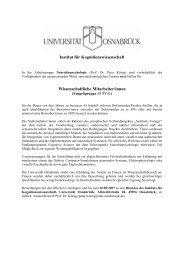 Institut für Kognitionswissenschaft Wissenschaftliche Mitarbeiter/innen