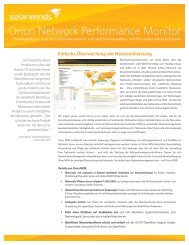 Orion Network Performance Monitor - Action–One AG