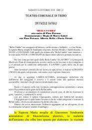 TEATRO COMUNALE DI TRINO SPETTACOLO TEATRALE la ...