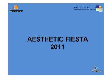 AESTHETIC FIESTA 2011 - Aesthetic Institute of Design, Media and ...